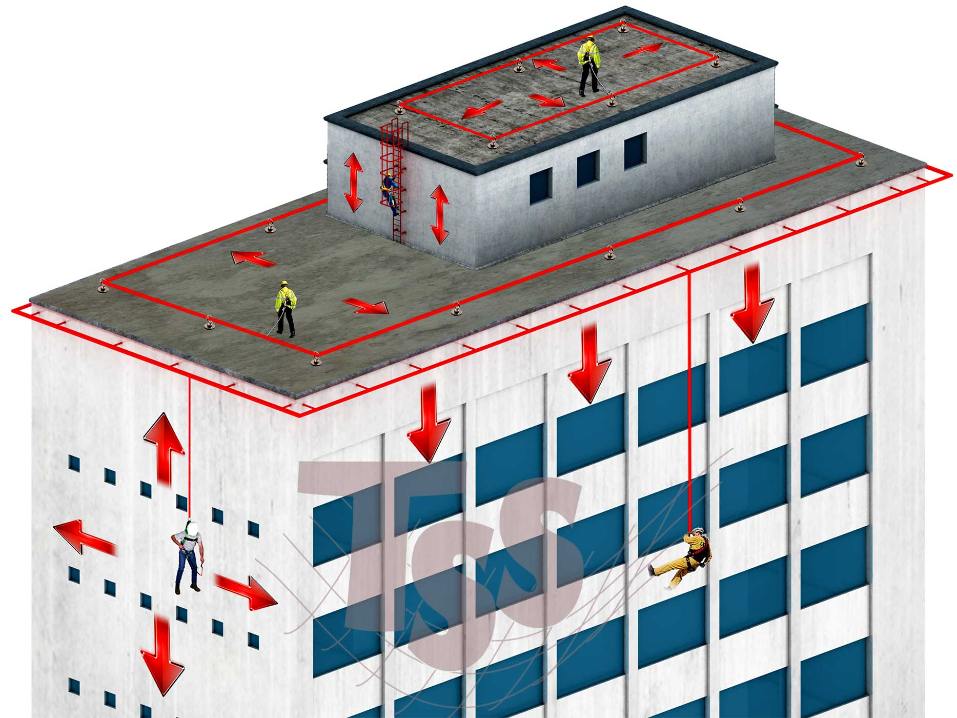 lifeline-system-Safety-TSS-Total-Safety-Solutions-in-Dubai-UAE-ABU-DHABI-ASIA-MIDDLE-EAST-GCC-Ladder