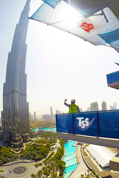 Safety Net Fan, Loading Platform, Safety Nets Fall Safety Burj Khalifa, Saudi Arabia UAE Oman Bahrain Kuwait Qatar Lebanon Azerbaijan Egypt Dubai Jeddah Russia Middle East TSS GCC