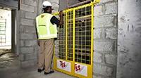 Shaftgate-Edge-Protection-elevator Saudi Arabia UAE Oman Bahrain KSA Kuwait Qatar Lebanon Iraq Egypt Dubai Jeddah abu Dhabi Mecca Russia ASIA Middle East Doka Gulf Combisafe ULMA TCE Honeywell TSS